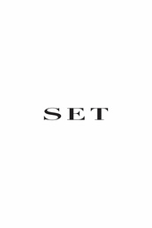 Pressed crease trousers with a fancy silver metallic look front